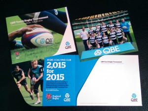Sports photography for QBE Touch Rugby mount