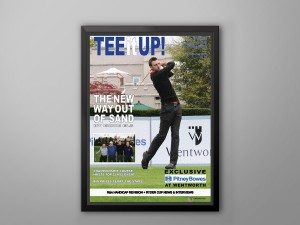 golf event photography magazine mock up