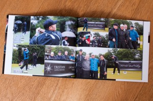 golf day photographs glossy book